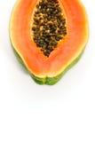 tło czarnej owoców melonowy pojedynczy white Zdjęcie Stock