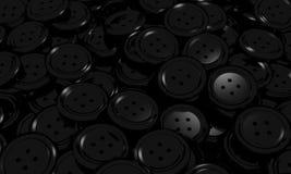 Tło czarny guzik odziewa Obrazy Royalty Free