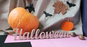 Tło dekoracja Halloween Zdjęcia Stock