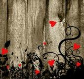 tło deskowi serca Fotografia Stock
