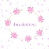 Tło dla zaproszenie fury z kwiatami lotosowymi royalty ilustracja