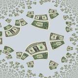 tło dolarów, Ilustracji