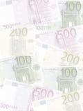 tło euro Obrazy Royalty Free
