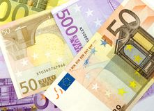 tło euro Zdjęcia Royalty Free