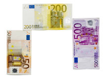 tło euro Fotografia Stock