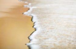 Tło fala na piasku Zdjęcie Stock