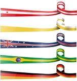 Tło flaga set Zdjęcia Stock