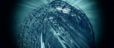 tło futurystyczny 3 d Zdjęcie Royalty Free