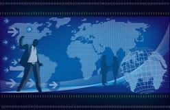 tło globalny Zdjęcia Stock