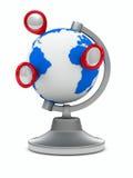 tło globe ilustracyjny white wektor Obraz Royalty Free