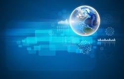 tło globe niebieski komunikacji globalnego internetu Zdjęcie Stock