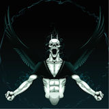 tło gniewny demon Zdjęcie Royalty Free