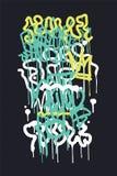 Tło graffiti etykietka Zdjęcie Royalty Free