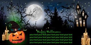 tło Halloween horyzontalny obraz stock