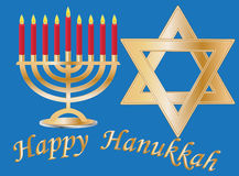 tło Hanukkah Ilustracji