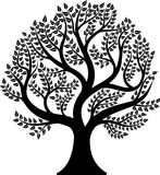 tło ilustracyjnego pojedynczy obrazu drzewny white wektor Obraz Stock