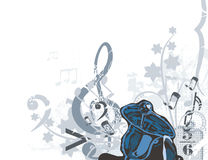 tło instrumentu muzyki royalty ilustracja
