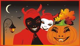 tło karciany Halloween Zdjęcia Stock