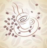 tło kawa royalty ilustracja