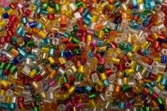 Tło kolorowi plastikowi koraliki Fotografia Royalty Free