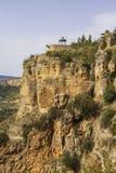 Tło krajobrazowy widok Ronda, Andalusia Zdjęcie Stock