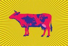 tło krowa Zdjęcie Stock