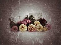 tło kwiat kwitnie rocznika Obrazy Stock
