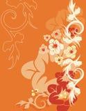 tło kwieciste serii Obraz Royalty Free