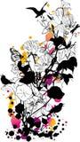 tło kwiecisty abstrakcyjne Zdjęcia Stock