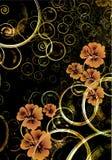 tło kwiecisty abstrakcyjne Obrazy Royalty Free