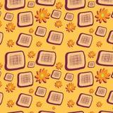 tło kwitnie bezszwowych kwadraty Obrazy Royalty Free
