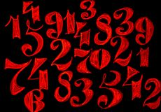 T?o liczby od zero, dziewi?? Liczy tekstur? 3d coloured waluty wysokiego ilustracyjnego wizerunku wielo- postanowienia symbole mn zdjęcie royalty free