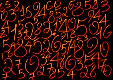 T?o liczby od zero, dziewi?? Liczy tekstur? 3d coloured waluty wysokiego ilustracyjnego wizerunku wielo- postanowienia symbole mn zdjęcia royalty free