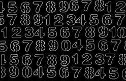T?o liczby od zero, dziewi?? Liczy tekstur? 3d coloured waluty wysokiego ilustracyjnego wizerunku wielo- postanowienia symbole mn obraz stock
