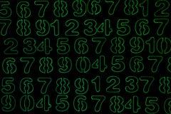 T?o liczby od zero, dziewi?? Liczy tekstur? 3d coloured waluty wysokiego ilustracyjnego wizerunku wielo- postanowienia symbole mn obrazy royalty free