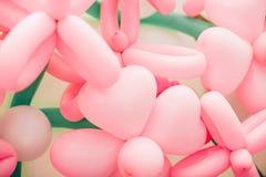 Tło menchie kwitnie od balonów r Obrazy Royalty Free