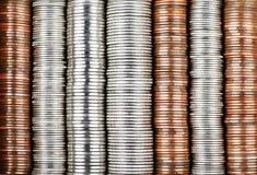 tło moneta Zdjęcia Stock