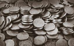 Tło monety Wiele monety Zdjęcie Stock
