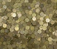 Tło monety Wiele monety Obraz Royalty Free