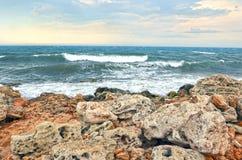 Tło morze Zdjęcia Stock
