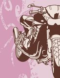 tło motocykla Obrazy Royalty Free