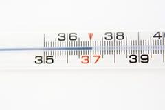 tło nad themometer biel Zdjęcie Royalty Free