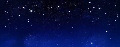 T?o nocne niebo z gwiazdami royalty ilustracja