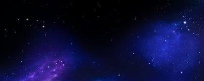 T?o nocne niebo z gwiazdami ilustracji