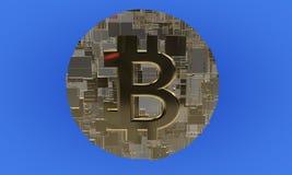 Tło o temacie bitcoin, 3d ilustracja wektor
