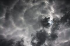 Tło od nieba i zmroku burzy chmur Fotografia Stock