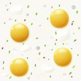 Tło od rozdrapanych jajek Zdjęcie Stock