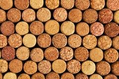 Tło od wino korków, odgórny widok Zdjęcie Stock