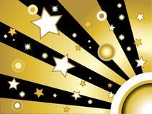 tło okregów gwiazdy Obraz Royalty Free