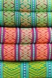 Tło - pasiaste poduszki Fotografia Royalty Free